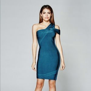 GUESS by Marciano Blue Beda Bandage Dress